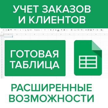 Учет Заказов и Клиентов в Гугл Таблице: готовое решение
